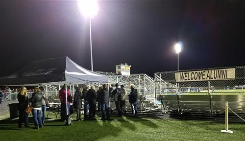 Picture of the Alumni End Zone at Homecoming