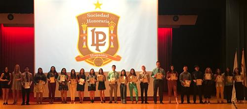 Inductees of the Spanish Honor Society