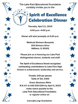 Spirit of Excellence Invitation