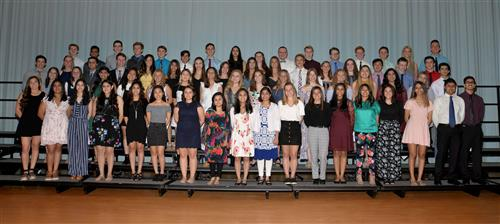 Inductees of the National Honor Society